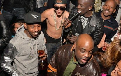 Justin Bieber parties shirtless in Atlanta club with Rick,T.I, Diddy and 'bad girl' Chantel Jeffries…