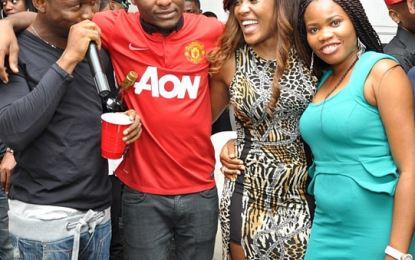 Pics: Toolz, Banky W, Olamide attend Ubi Franklin's birthday party