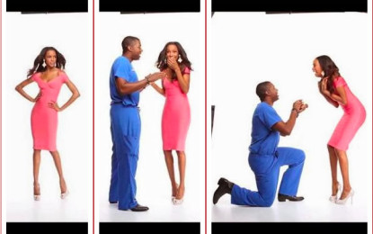 Supermodel gets surprise wedding proposal during fake photo shoot