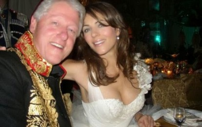 Bill Clinton had a year long affair with actress Elizabeth Hurley?