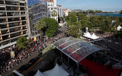 Cannes parties all night… and also shows films