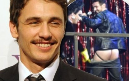 James Franco Bares Naked Butt At Broadway Fundraiser (VIDEO)