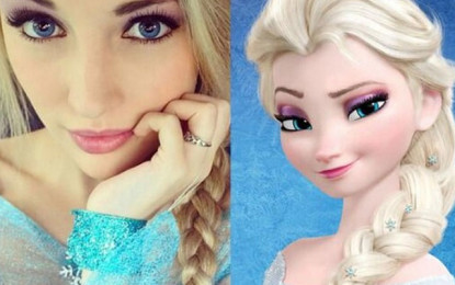 'Frozen' Look-Alike — shows off her Bikini Body