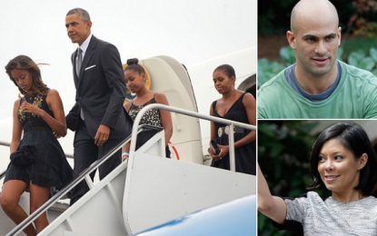 Photos – President Obama & his family attend his chef's wedding