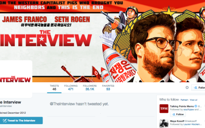 'The Interview' Twitter and Facebook accounts have been scrubbed