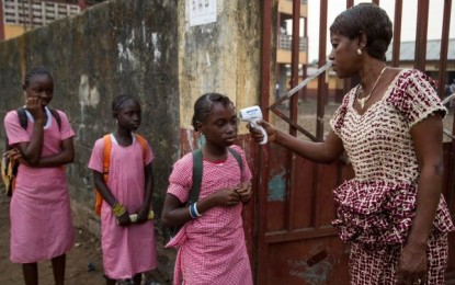 Guinea schools reopen shut by Ebola for 10 months