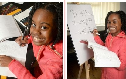10yr old Nigerian girl accepted on university course in the UK to study maths degree