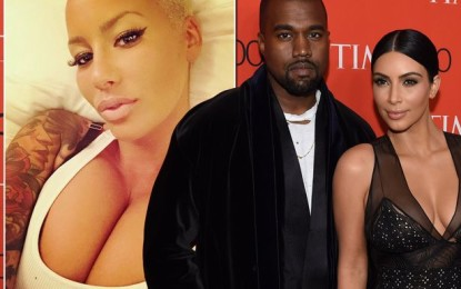 Kim Kardashian finds intimate pictures of Amber Rose on Kanye's computer'