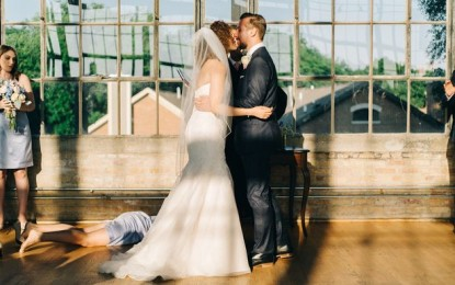 Can you spot anything wrong with this wedding photo?