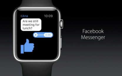 Facebook finally launches Messenger on the Apple Watch
