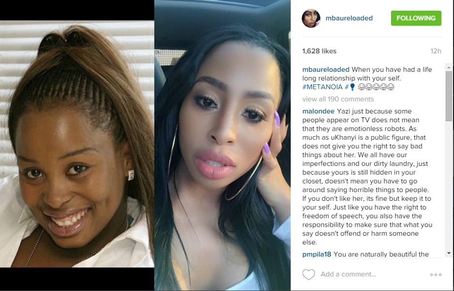 Khanyi Mbau on beauty transformation shares her before and after ... | 937 x 600 png 908kB