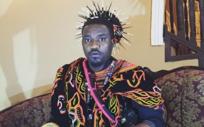 John Dumelo gets crowned as the chief of Bamenda Land in Cameroon
