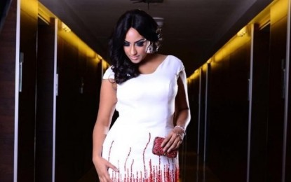Juliet Ibrahim wows in beautiful red and white gown at the Ovation Christmas Carol