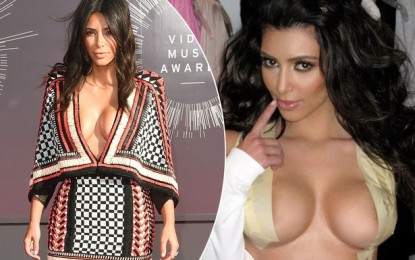 Kim Kardashian shares picture of taped boobs as red carpet secret