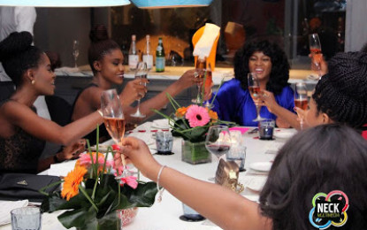 Friends throw birthday party for Omotola Jolade in Ghana