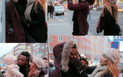 Zari loved-up with bae Diamond Platnumz on the street of Sweden