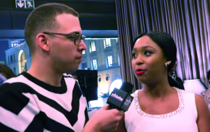 Minnie Dlamini interviewed by her publicist Jarred Doyle at the Africa Fashion International (VIDEO)