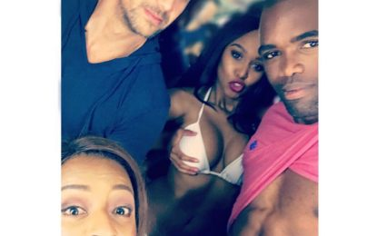 Minnie Dlamini turns head with some boobs grabbing picture