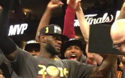 Lebron James leads the Cleveland Cavaliers to their First NBA Championship