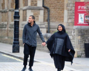 Janet Jackson steps out fully covered up with her husband Wissam Al Mana