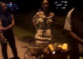 Rihanna seen buying roasted corn on the street