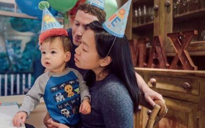Mark Zuckerberg shares cute photo from his daughter's first birthday party