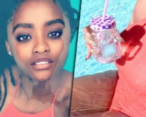 Samkelo Ndlovu turns up the heat with sexy in the pool video