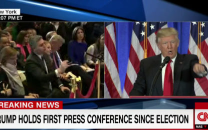 """""""No, I will not give you a question, you are fake' Trump fires at CNN reporter"""