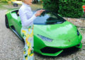 Wife of Prophet Uebert Angel shows off her new Lamborghini