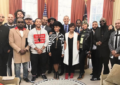 African American music stars visits President Obama
