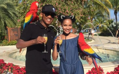 Proverb and Liesl Laurie welcome 2017 in Jamaica