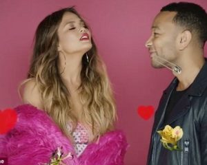 Chrissy Teigen smoulders in racy lingerie for sexy Valentines shoot