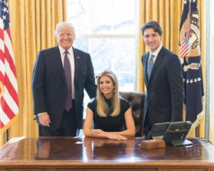 Photo of Ivanka Trump in the Oval office that has got people talking