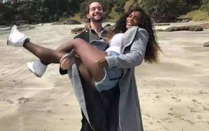 Serena Williams shares romantic beach photo with fiancee Alexis Ohanian