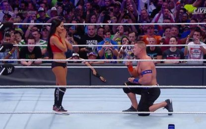 Wrestling legend, John Cena proposes to girlfriend at Wrestling Mania ring