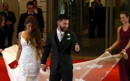 Lionel Messi weds childhood sweetheart