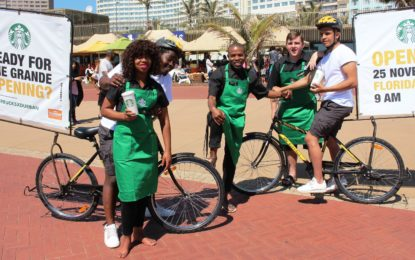 Starbucks prepares for its Durban opening!