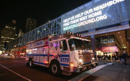 New York explosion at Manhattan bus terminal