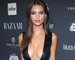 Emily Ratajkowski shows off ring