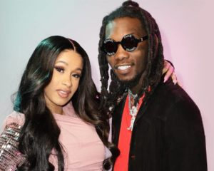 Cardi B shares image of secret wedding on one-year anniversary